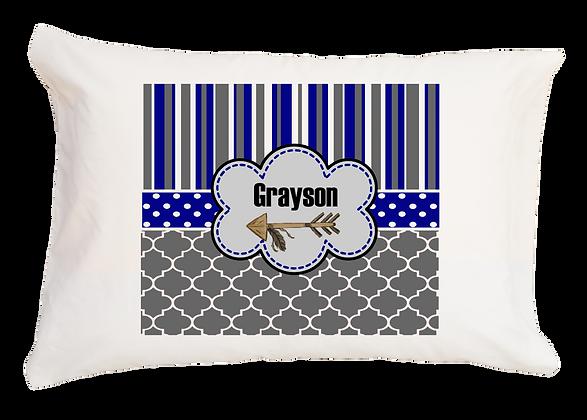 Arrow Custom Design w/Custom Name Travel Pillow