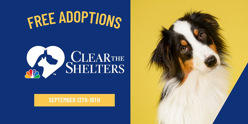 FREE Adoption Event with Clear the Shelters