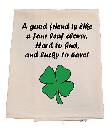 Lucky to Have a Friend Four Leaf Clover