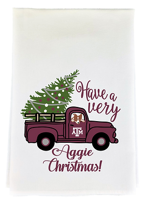 Aggie Christmas Tea Towel