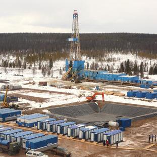 Кустовые площадки добычи нефти