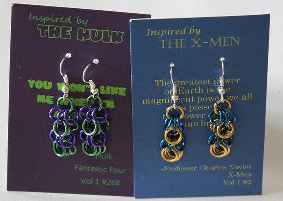 Comic Inspired Earrings