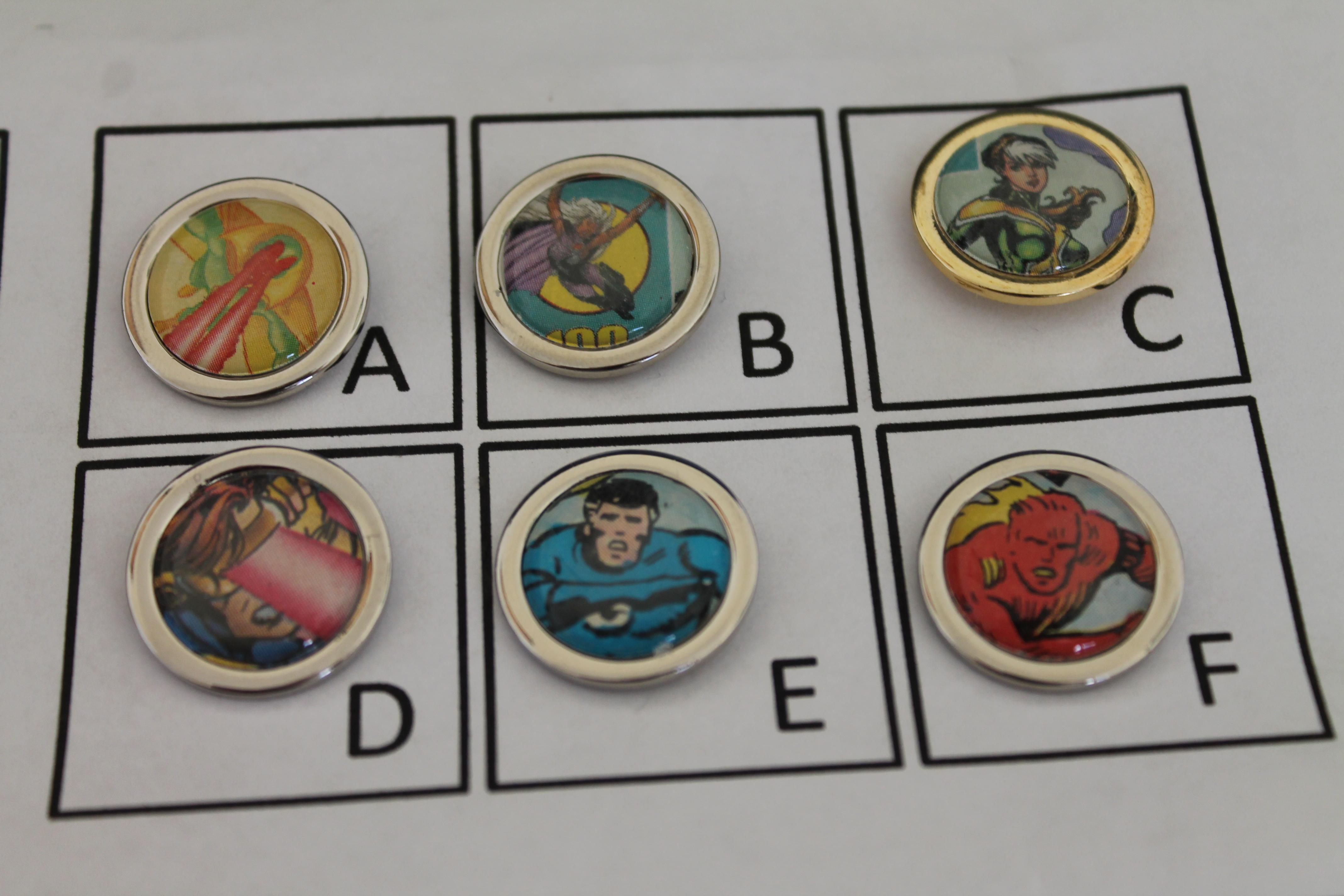 Comic book Lapel/Stick Pins