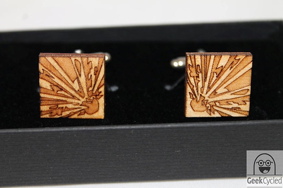 Science Cufflinks - Laser Cut