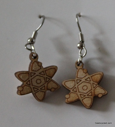 Atomic structure earrings