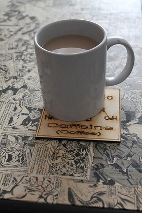 Tea-time Chemistry coasters