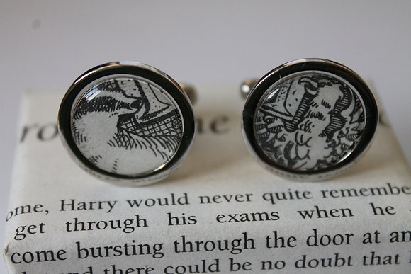 Harry Potter (Recycled Literature) cufflinks