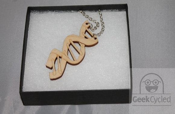 DNA molecule necklace - Laser Cut necklace