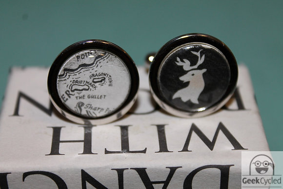 Game of Thrones Cufflinks - Recycled