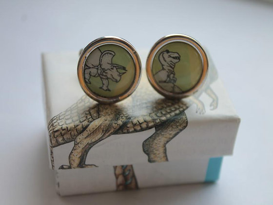 Science Cufflinks - Recycled