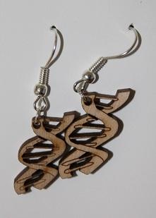 DNA helix earrings - Laser Cut