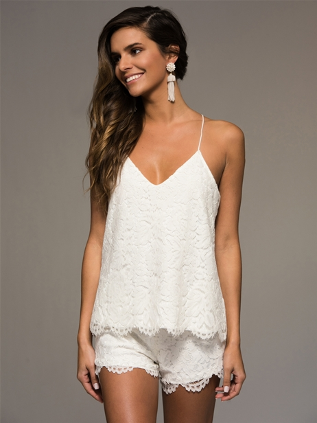 white-lacey-short