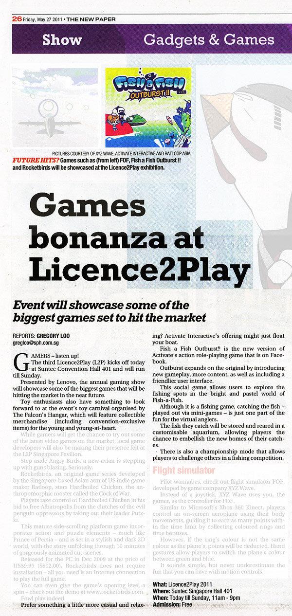 Bonanza May 2011: Games Bonanza At Licence2Play
