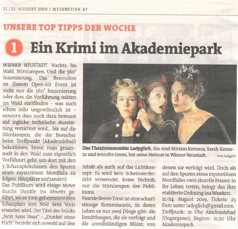 Bezirksblatt WN August 2019