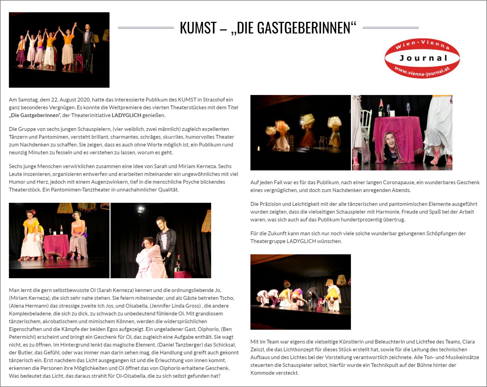 Vienna Journal, August 2020