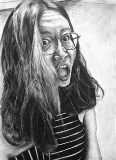 Charcoal on Paper Course: Drawing One Assignment: Portraits (In-Class)