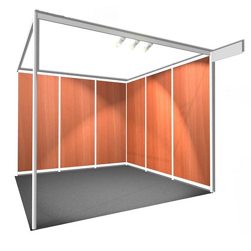 Passage de stand semi-équipé à équipé (au m²)