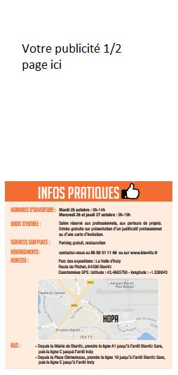 Votre publicité 1⁄2 page sur les 10.000 invitations du salon