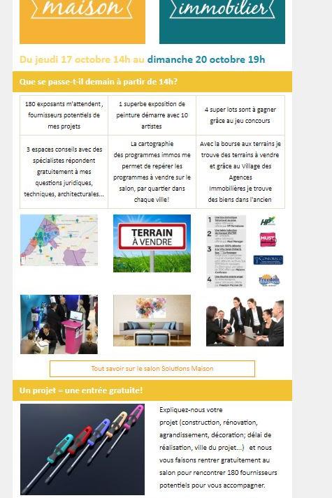 Un article sur votre société dans l'une des newsletters du salon