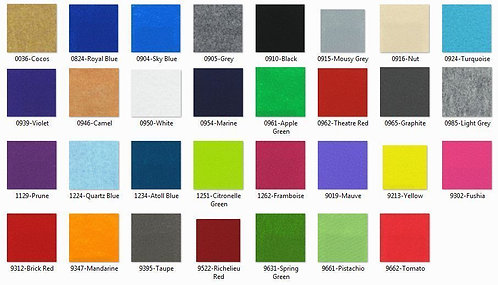 Moquette (supplément ou changement de couleur au m²)