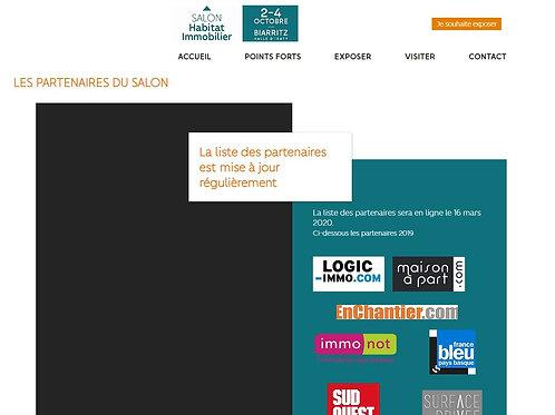 Votre logo sur le site internet du salon avec lien vers votre site internet