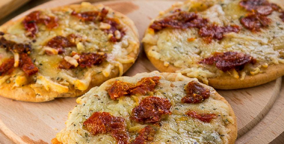 Mini Pizza - Muçarela com Tomate Seco - 6 unidades