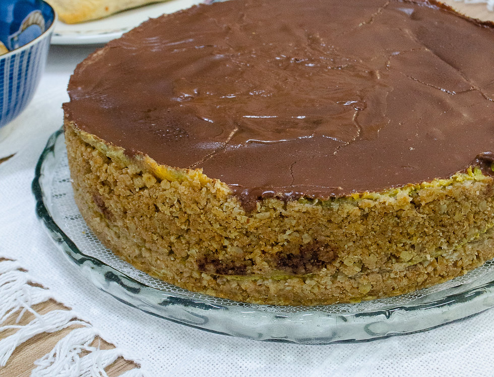 Torta de Banana com Chocolate