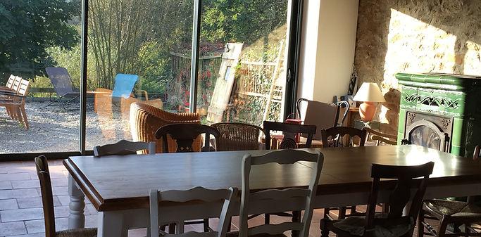 La Halte de Coat Carrec | Salon et salle à manger à disposition des hôtes