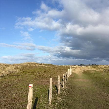 Randonnée dans les dunes Sainte Anne La Palud