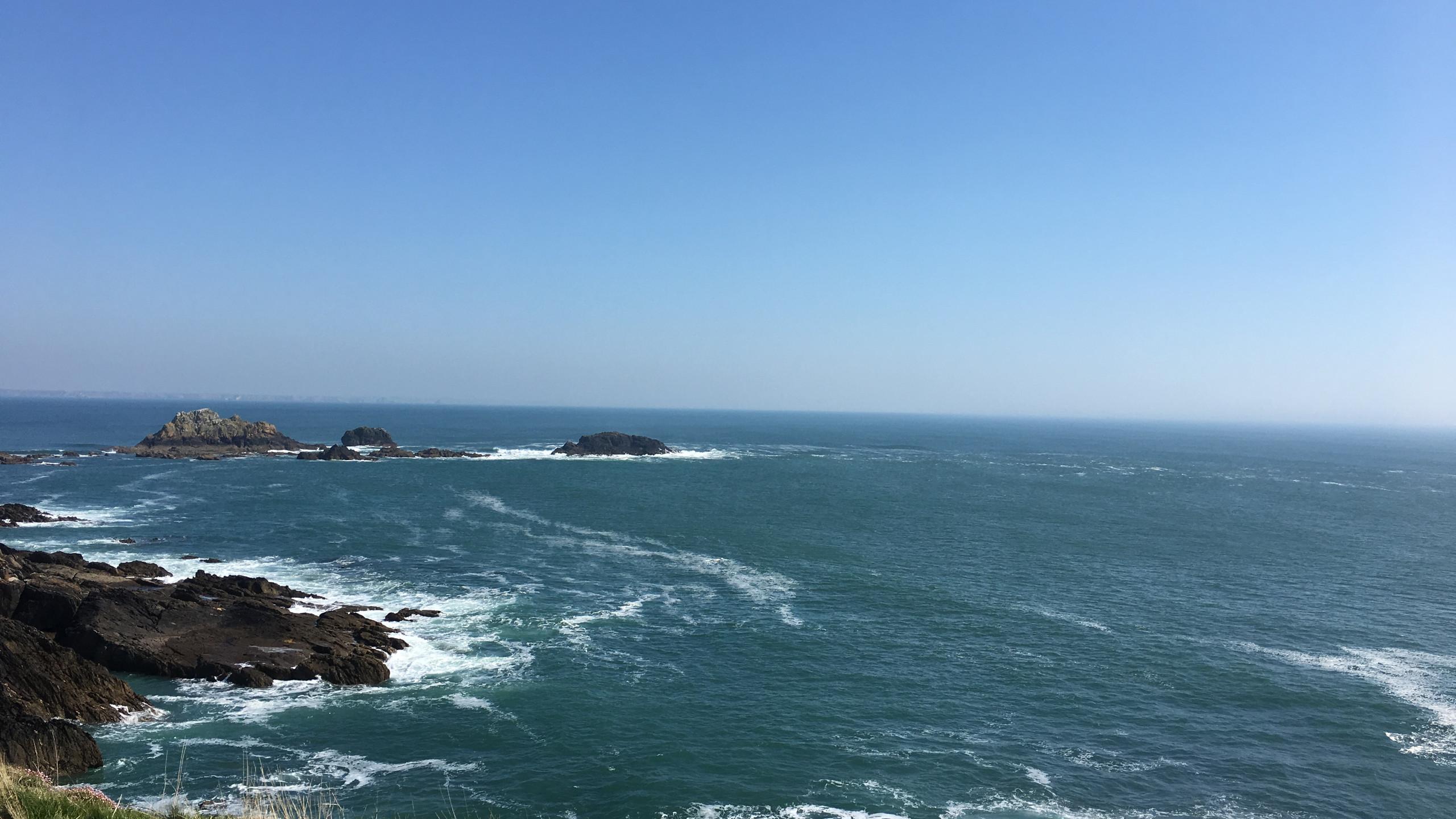 Vue sur mer depuis la Pointe saint M