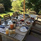 Ce matin, nos hôtes ont pu profiter de la terrasse ...