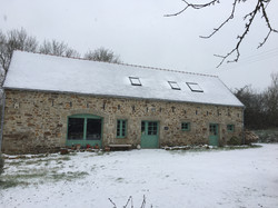 La Halte de Coat Carrec sous la neige - Chambres et table d'hôtes presqu'île de Crozon, parc naturel