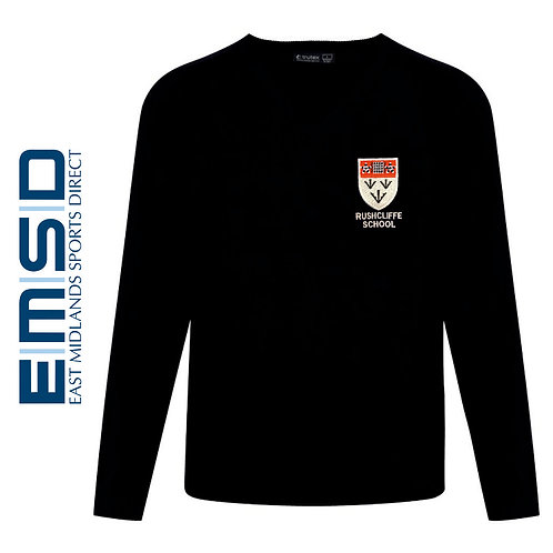 RUSHCLIFFE SCHOOL BOYS V-NECK JUMPER