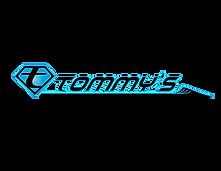 Tommy's Malibu T Logo Black and Blue