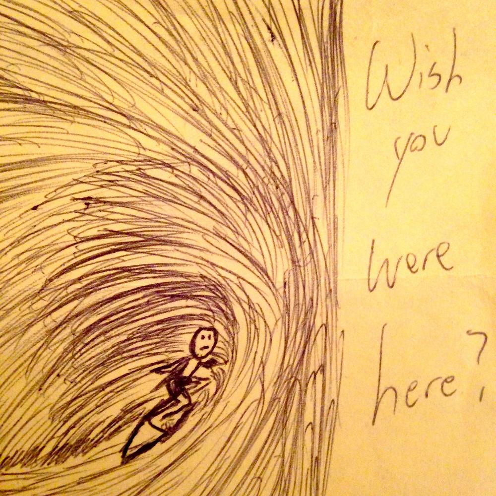 """Wakesurf Orlando """"Wish You Were Here?"""" Post-it Note"""