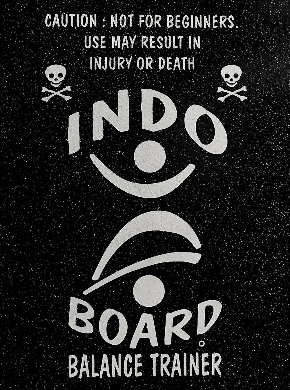 Indo Board balance trainer Mini Kicktail deck logo