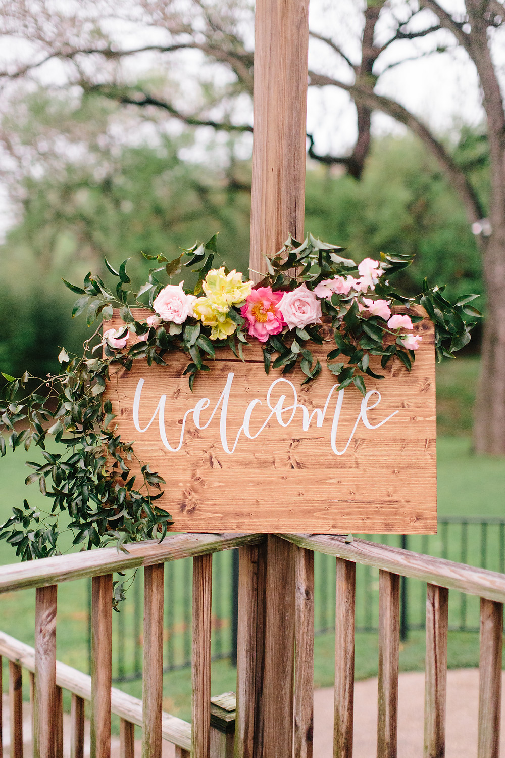Wooden Welcome Sign by K. Dunks Creative