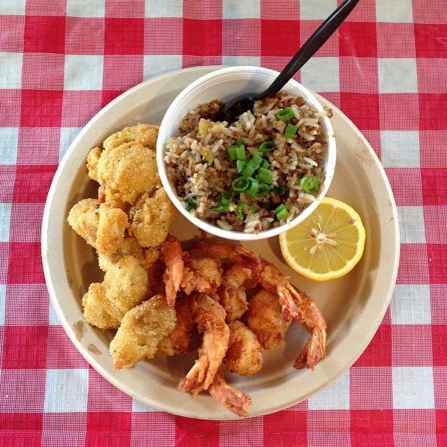 Oyster & Shrimp Combo w/ side