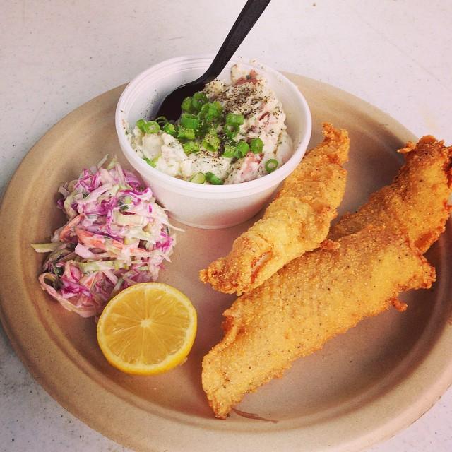 Catfish Entree w/ Potato Salad