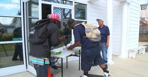 Raleigh Pastor Feeds Meals to Homeless Outside Church as Shelters Limit Access Amid COVID-19