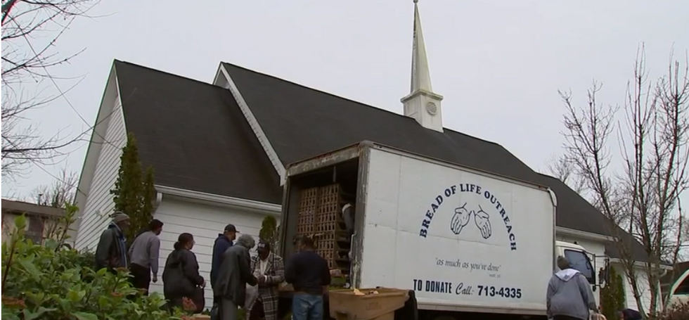 Ship of Zion Church Hands Out Free Bags of Meat to Those in Need
