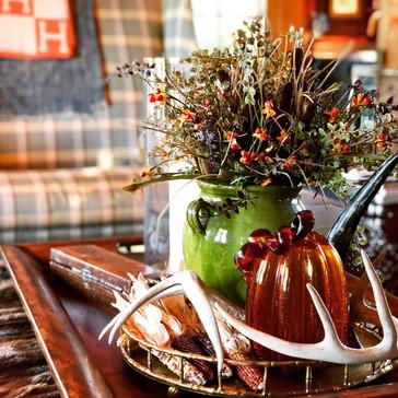 Fall Decor on Coffee Table