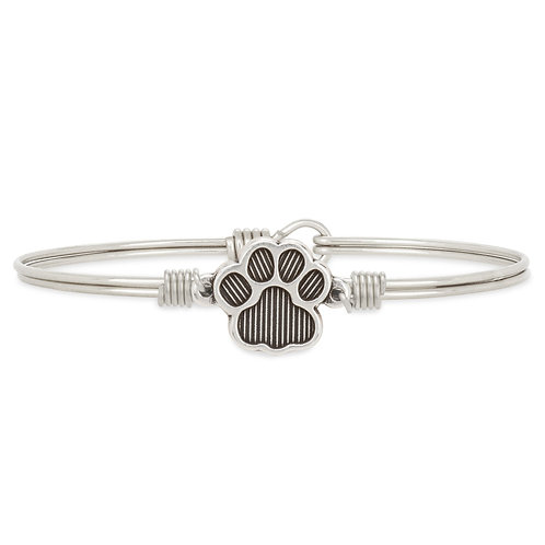 Pawprint Bangle Bracelet