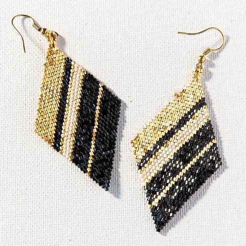 Gold Black Ivory Diamond Luxe Earring