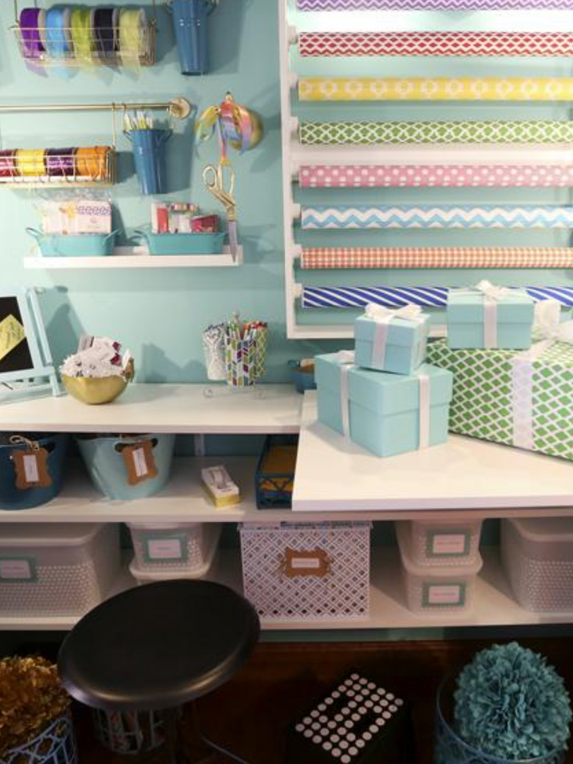 A Little Blue Box - Wrapping Station (2) Designed by Paula Chamblin Interiors