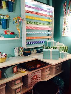 A Little Blue Box - Wrapping Station Designed by Paula Chamblin Interiors