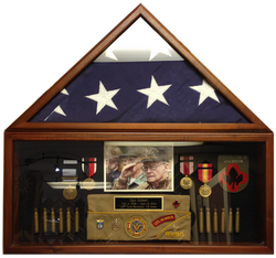 Framed Veteran's Flag