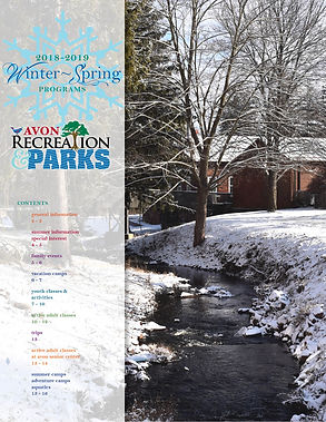 Winter Spring Brochure Avon Recreation and Parks