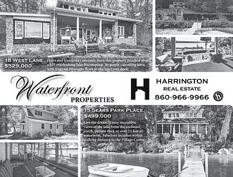 Black and White Ad Harrington Real Estate