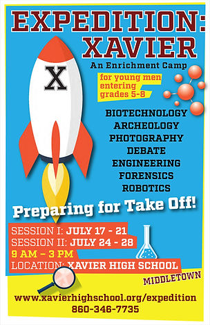 Xavier High School Summer Program Poster